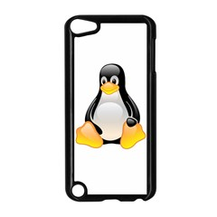 Crystal Linux Tux Penguin  Apple Ipod Touch 5 Case (black) by youshidesign