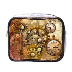 Steampunk Mini Travel Toiletry Bag (one Side) by Ancello
