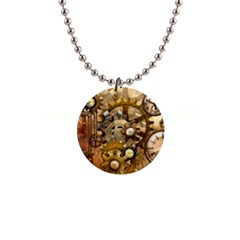 Steampunk Button Necklace by Ancello