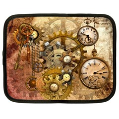 Steampunk Netbook Sleeve (large) by Ancello