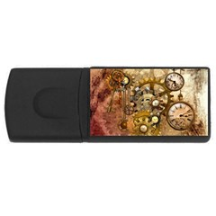 Steampunk 4gb Usb Flash Drive (rectangle) by Ancello