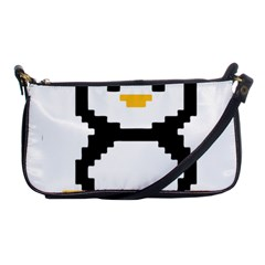Pixel Linux Tux Penguin Evening Bag by youshidesign
