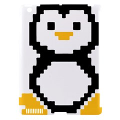 Pixel Linux Tux Penguin Apple Ipad 3/4 Hardshell Case (compatible With Smart Cover) by youshidesign