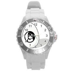 Liux Tux Egg Brand Plastic Sport Watch (large) by youshidesign