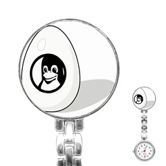 Liux Tux Egg Brand Stainless Steel Nurses Watch by youshidesign
