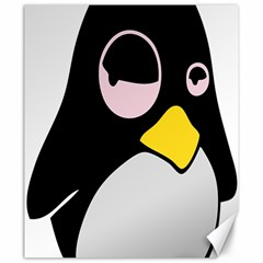 Lazy Linux Tux Penguin Canvas 20  X 24  (unframed) by youshidesign
