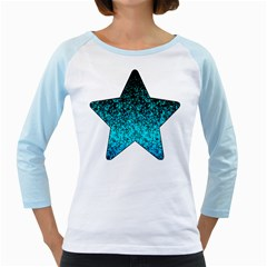 Glitter Dust 1 Women s Long Cap Sleeve T-shirt (white)  by MedusArt