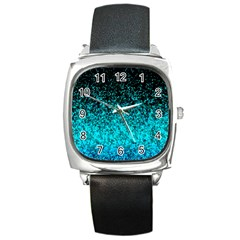 Glitter Dust 1 Square Leather Watch by MedusArt