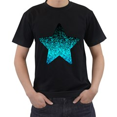 Glitter Dust 1 Mens' Two Sided T-shirt (black) by MedusArt