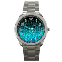 Glitter Dust 1 Sport Metal Watch by MedusArt