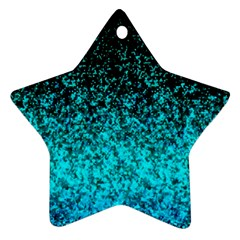 Glitter Dust 1 Star Ornament (two Sides) by MedusArt