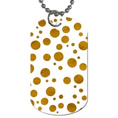 Tan Polka Dots Dog Tag (two Sided)