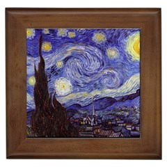 Vincent Van Gogh Starry Night Framed Ceramic Tile