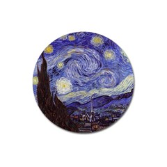Vincent Van Gogh Starry Night Magnet 3  (round) by fineartgallery