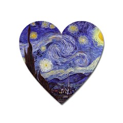 Vincent Van Gogh Starry Night Magnet (heart) by fineartgallery