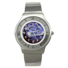Vincent Van Gogh Starry Night Stainless Steel Watch (slim)