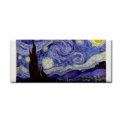 Vincent Van Gogh Starry Night Hand Towel by fineartgallery