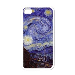 Vincent Van Gogh Starry Night Apple Iphone 4 Case (white) by MasterpiecesOfArt