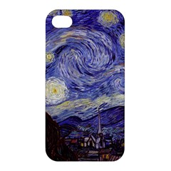 Vincent Van Gogh Starry Night Apple Iphone 4/4s Hardshell Case by MasterpiecesOfArt