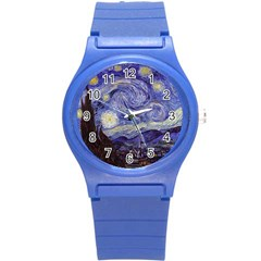 Vincent Van Gogh Starry Night Plastic Sport Watch (small)