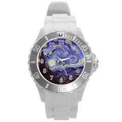 Vincent Van Gogh Starry Night Plastic Sport Watch (large) by MasterpiecesOfArt