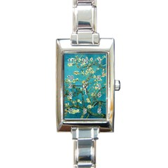 Vincent Van Gogh Blossoming Almond Tree Rectangular Italian Charm Watch by MasterpiecesOfArt
