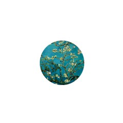 Vincent Van Gogh Blossoming Almond Tree 1  Mini Button by MasterpiecesOfArt