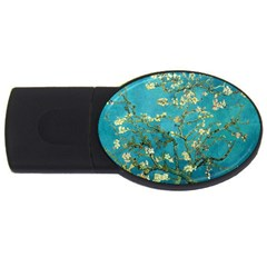 Vincent Van Gogh Blossoming Almond Tree 2gb Usb Flash Drive (oval) by MasterpiecesOfArt