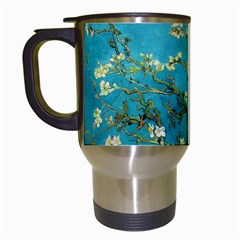 Vincent Van Gogh Blossoming Almond Tree Travel Mug (white) by MasterpiecesOfArt