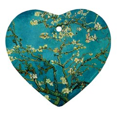 Vincent Van Gogh Blossoming Almond Tree Heart Ornament (two Sides) by MasterpiecesOfArt