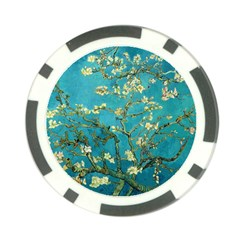 Vincent Van Gogh Blossoming Almond Tree Poker Chip (10 Pack) by MasterpiecesOfArt