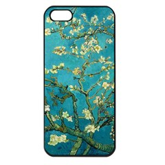 Vincent Van Gogh Blossoming Almond Tree Apple Iphone 5 Seamless Case (black) by MasterpiecesOfArt