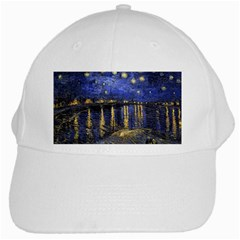 Vincent Van Gogh Starry Night Over The Rhone White Baseball Cap by fineartgallery
