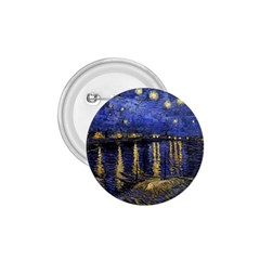 Vincent Van Gogh Starry Night Over The Rhone 1 75  Button by MasterpiecesOfArt