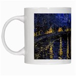 Vincent Van Gogh Starry Night Over The Rhone White Coffee Mug Left