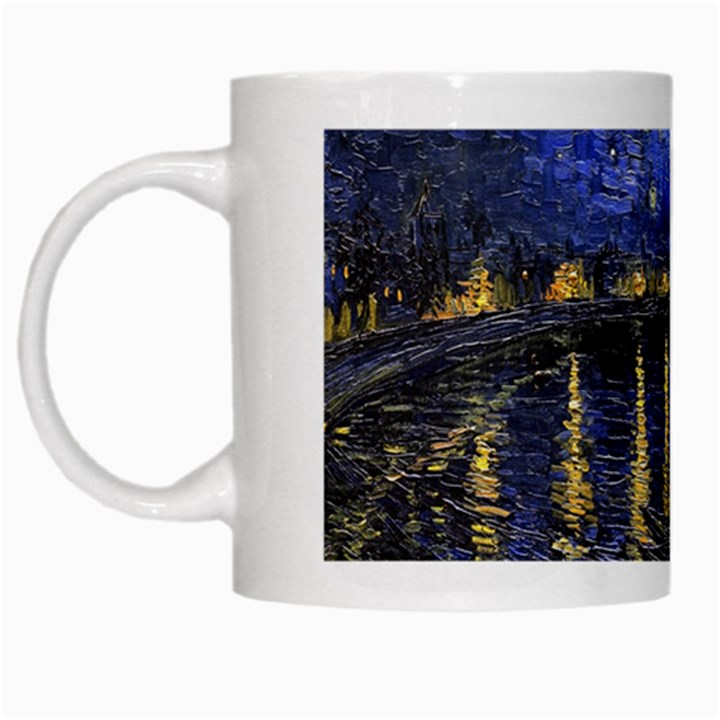 Vincent Van Gogh Starry Night Over The Rhone White Coffee Mug