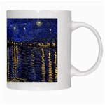 Vincent Van Gogh Starry Night Over The Rhone White Coffee Mug Right