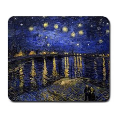 Vincent Van Gogh Starry Night Over The Rhone Large Mouse Pad (rectangle) by fineartgallery