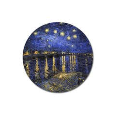 Vincent Van Gogh Starry Night Over The Rhone Magnet 3  (round)
