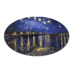 Vincent Van Gogh Starry Night Over The Rhone Magnet (oval) by fineartgallery