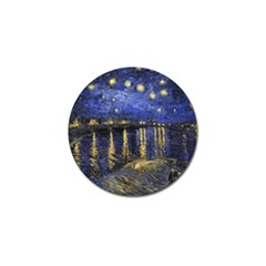 Vincent Van Gogh Starry Night Over The Rhone Golf Ball Marker 10 Pack by fineartgallery