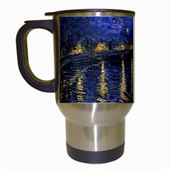 Vincent Van Gogh Starry Night Over The Rhone Travel Mug (white) by MasterpiecesOfArt