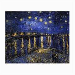 Vincent Van Gogh Starry Night Over The Rhone Glasses Cloth (small, Two Sided) by fineartgallery