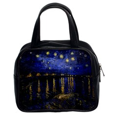 Vincent Van Gogh Starry Night Over The Rhone Classic Handbag (two Sides) by MasterpiecesOfArt
