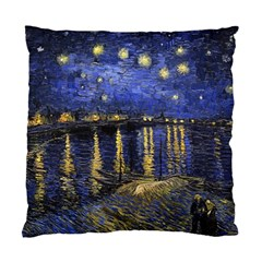 Vincent Van Gogh Starry Night Over The Rhone Cushion Case (single Sided)  by fineartgallery