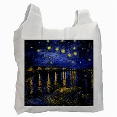 Vincent Van Gogh Starry Night Over The Rhone Recycle Bag (one Side) by fineartgallery