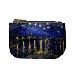 Vincent Van Gogh Starry Night Over The Rhone Coin Change Purse by MasterpiecesOfArt