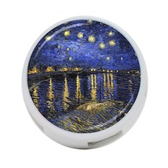 Vincent Van Gogh Starry Night Over The Rhone 4 Port Usb Hub (two Sides) by MasterpiecesOfArt