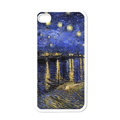 Vincent Van Gogh Starry Night Over The Rhone Apple Iphone 4 Case (white) by MasterpiecesOfArt
