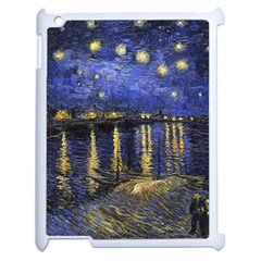 Vincent Van Gogh Starry Night Over The Rhone Apple Ipad 2 Case (white) by MasterpiecesOfArt